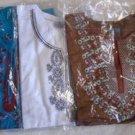 KURTA KURTI Women's Blouse Top Indian Pakistani Brown Blue White XL XXL NIP