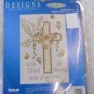 "CROSS STITCH KIT Matthew 19:26 Designs for the Needle 5"" x 7"" 14 Count NIP"