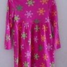 GYMBOREE GIRL'S Winter DRESS Pink Orange Green Snowflakes Turtleneck Size 3