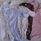 BABY GIRL PAJAMA PJ One Piece Sleeper Bag Lot 6 Pieces 3-9 Months Carter's Pink