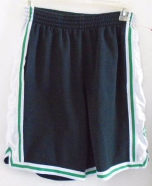 NIKE BASKETBALL SHORTS Men's Black White Green Large Elastic Sports Athletic