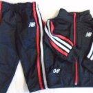NEW BALANCE Baby Boy Outfit Sweat Pants Jacket Track 12 Months Black White EUC
