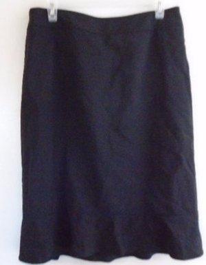 ANN TAYLOR BLACK SKIRT Career Office Work Size 10 Lined Virgin Wool Soft