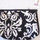 COSMETIC CASE Bag BLACK WHITE DAMASK Belvah Retired Zipper Closure NWT