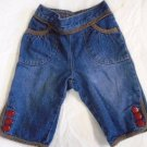 GYMBOREE VALENTINE'S DAY Baby Girl Jeans Blue Denim Red Hearts 3-6 Months CUTE