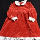 BABY GIRL TODDLER HOLIDAY CHRISTMAS DRESS VELOUR RED WHITE TRIM 18 MONTHS