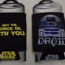 STAR WARS KOOZIE'S Set of 2 Black Yellow Blue May The Force Be With You Drink