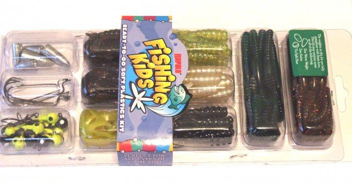 Rapala Fishin Kids 105-pc Soft Plastics Kit NO LEAD