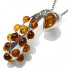 Genuine Amber Studded Sterling Silver Pendant - STUNNING!!!