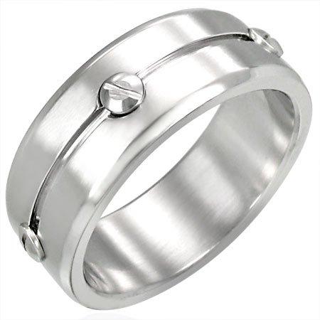 Designer Inspired Stainless Steel Ring - Size 9