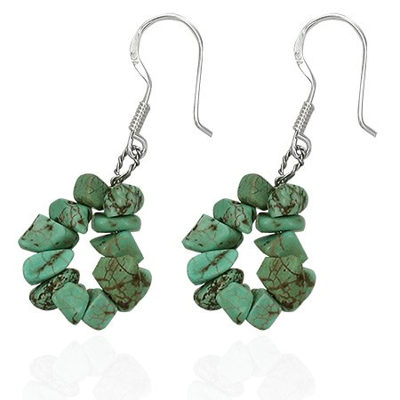 Handcrafted Turquoise Earrings - INDIAN SUMMER
