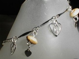 Baby Phat Anklet Bracelet Silvertone