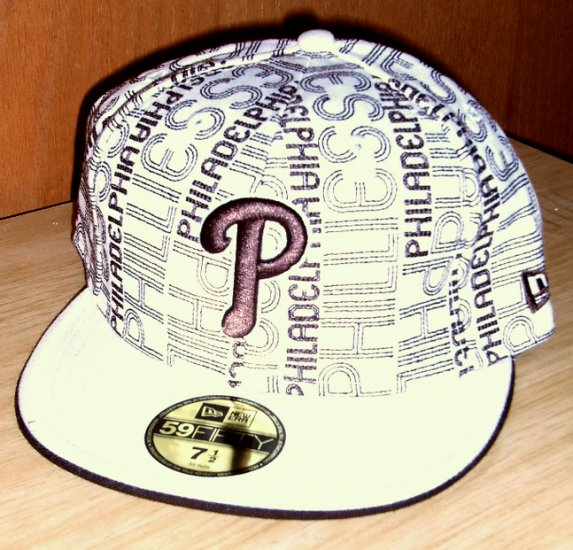 """New Era 59Fifty Fitted cap Brown Phillies """"P"""" 7.5"""