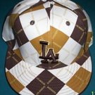 "New Era 59Fifty Fitted Cap Brown, Tan, White Los Angelos ""LA"" 7"