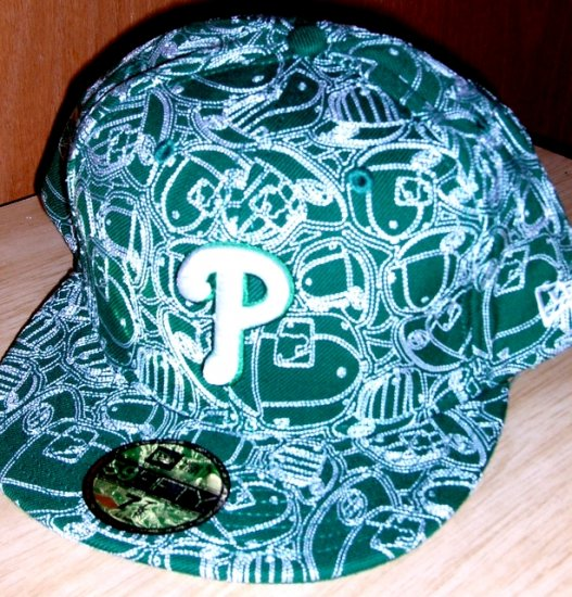 """New Era 59Fifty Fitted cap Green Phillies """"P"""" 7 7/8"""