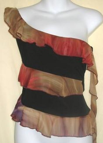 One Shoulder Clubbing Casual Top Sz L