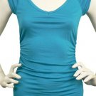 Blue Top Ruched Sides Medium