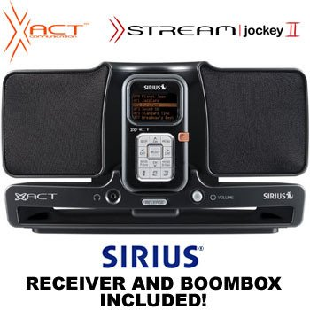 XACT® SIRIUS SATELLITE RECEIVER AND BOOMBOX SYSTEM