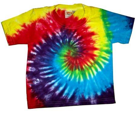 Custom Tie Dye Baby Hippie T Shirt Newborn Infant Toddler Cotton Tiedye