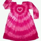 Custom Tie Dye Hippie Toddler Girls Empire Dress Long Sleeve Hand Dyed Childs Tiedye