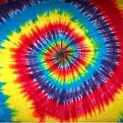 Custom Tie Dye Hippie Spiral Tiedye Wall Hanging Tapestry 36 in X 36 in