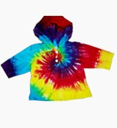 New Tie Dye Hippie Toddler Childs Hoodie Sz 2/4 Sz 6/8