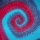 Tie Dye Hippie Spiral Custom Tiedye Wall Hanging Tapestry 36 in X 34 in