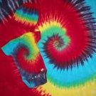 Custom Tie Dye Baby Hippie 3PC Gift Set SS Onesie, Receiving Blanket, and Cap