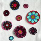 10 Colorful Flowers No Sew Iron On Appliques Retro Cotton Flannel Patches