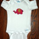 Red Elephant Applique Onesie All Sizes Cotton Flannel Retro