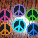 10 Pc Retro Peace Signs No Sew Iron On Appliques Cotton Patches