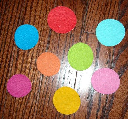 8 Polka Dot Circles No Sew Iron On Appliques Cotton Flannel Patches Retro