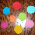8 Polka Dot Circles No Sew Iron On Appliques Cotton Flannel Patches Retro
