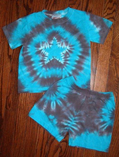 Custom Tie Dye Baby Hippie 2PC Short Sleeve T-Shirt Shorts Newborn Infant Cotton