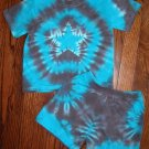 Custom Tie Dye Baby Hippie 2PC Short Sleeve T-Shirt Shorts Newborn Infant Cotton