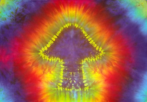 Tie Dye Hippie Cotton Pillowcase You Pick Color Design for Pillow Case