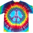 Peace Sign Tie Dye Hippie Adult Big Short Sleeve T Shirt 2X 3X 4X 5X 6X Plus Size Hand Dyed Tiedye