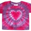 Heart Tie Dye Baby Hippie T Shirt Newborn Infant Toddler Cotton Tiedye