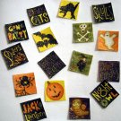 Halloween No Sew Iron On Appliques Set of 16 Skull Ghost Witch Spider Pumpkin