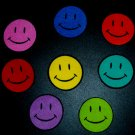 7 Pc Retro Smiley Face Smiles No Sew Iron On Appliques Cotton Patches