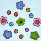 14 Retro Colorful Flowers No Sew Iron On Appliques Patches