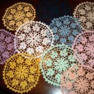 Any Color Elegance 8 Inch Round Cotton Crochet Doily Yellow Blue White Pink Beige Purple