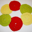 Set of 6 Crochet Cotton Face Cosmetic Scrubbies