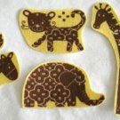 8 Zoo Animals Elephant Giraffe No Sew Iron On Appliques Cotton Flannel Patches