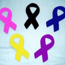 One Cancer Awareness Cure Ribbon No Sew Iron On Appliques Cotton Patches