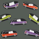 12 Hearses Funeral Halloween No Sew Iron On Appliques Cotton Patches Gothic Retro
