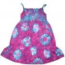 Custom Tie Dye Hippie Toddler Sun Dress Hand Dyed Tiedye