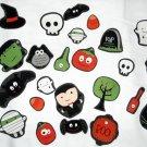 Set of 27 Halloween No Sew Iron On Appliques Vampire Mummy Owl Skull Ghost Pumpkin