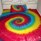 Tie Dye Hippie Twin XL XLT College Dorm Bed Sheets 3PC Unique Hand Dyed Tiedye Cotton Jersey Modal