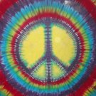 Tie Dye Peace Sign Hippie or Spiral Rainbow Shower Curtain